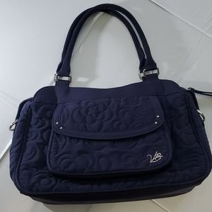 Vera Bradley navy blue purse